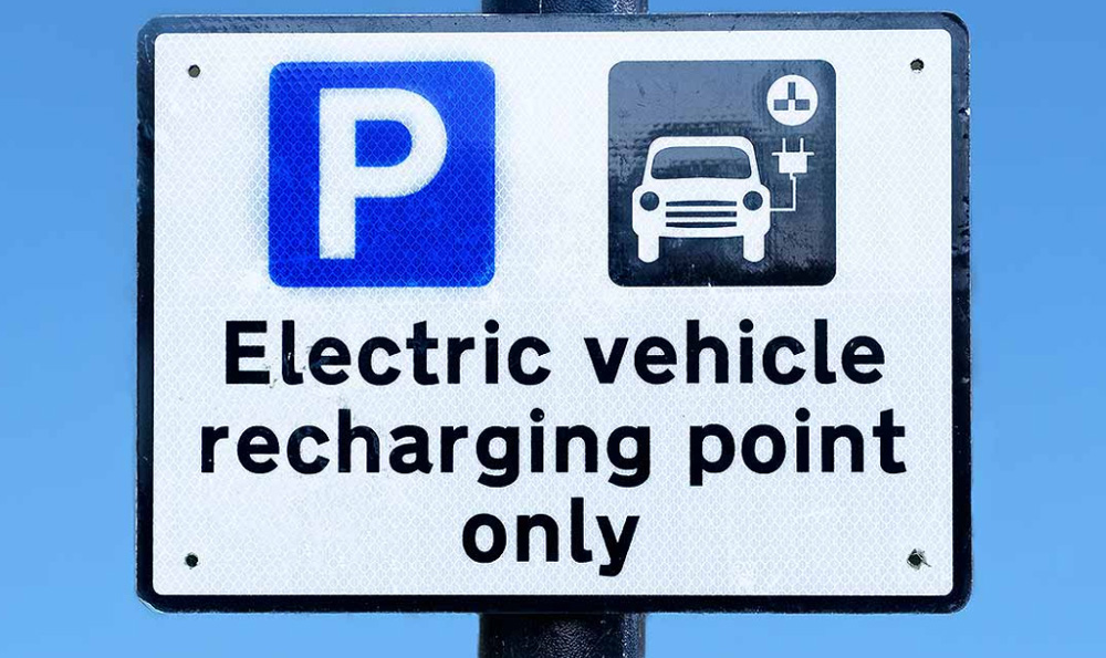 Electric vehicle recharging parking only